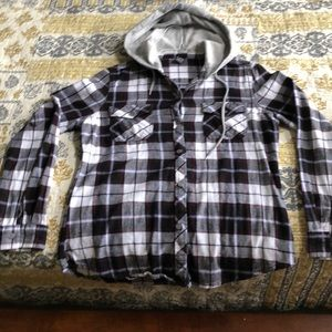 Empyre flannel with hood size medium